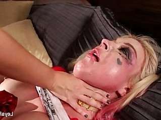 Leya Falcon gets ass fucked hard with strapon