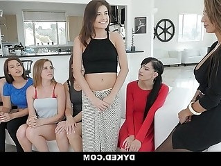 Dyked Hot Teen Orgy With Sexy Milf