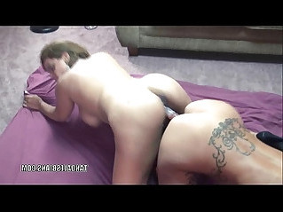 Mature lesbos Autumn and Angel play on camera with huge dildo