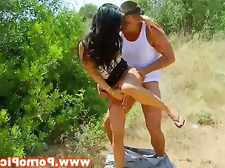 Senorita amateur outdoors pounded from behind