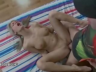 Teen hottie Caitlin is getting her young butt fucked hard