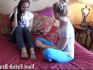 Lesbian foot worshiping for free yoga lessons