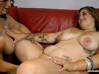 Hot Slutty BBW Lesbians Lick Bellys, Boobs and Booty