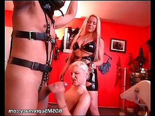 Incredible bdsm threesome session
