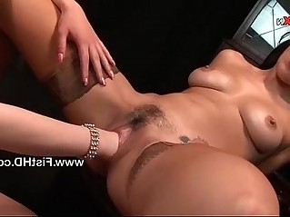 Busty lesbians Emma and Veronica fisting