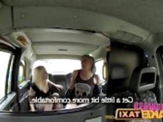 FemaleFakeTaxi Lesbians wrestle in taxi