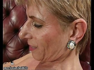 Nasty mature lesbian goes crazy getting