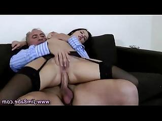 Older guy younger girl fuck and cumshot