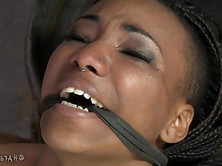 Flexible Ebony Pain Slut In Lezdom Bondage
